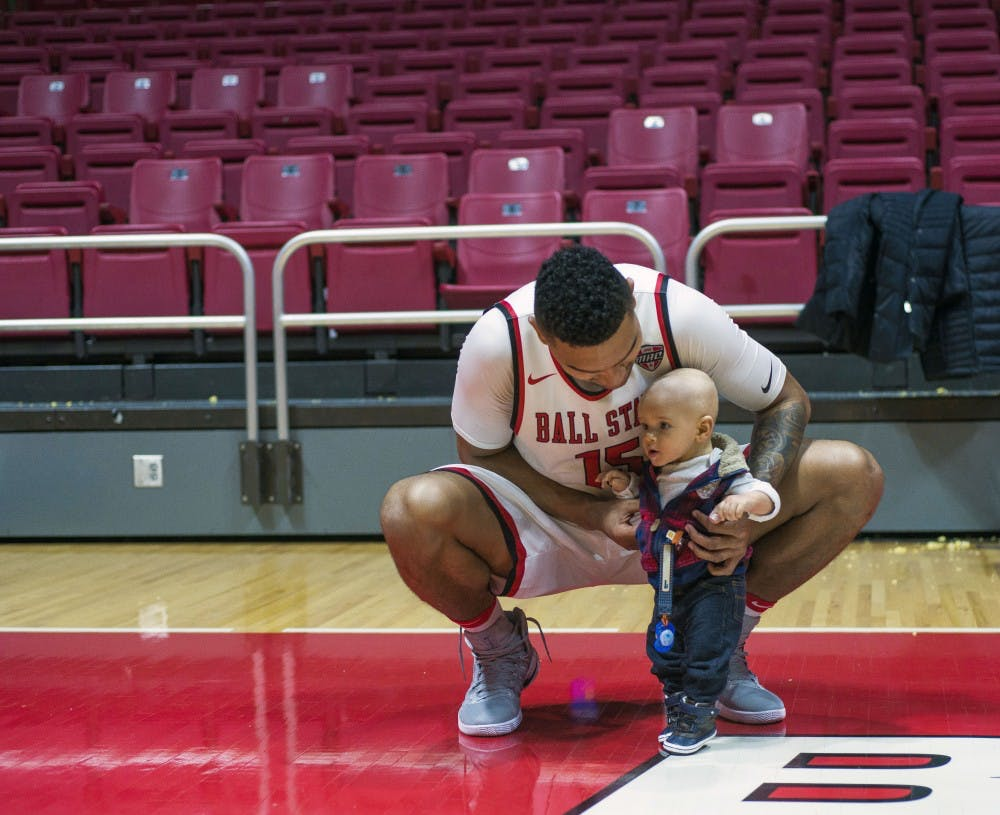 """Franko House is greeted by his fiancee Morgan Jantzi and their son Carter after every game, whether it is home or away. Jantzi and Carter attend the games with her mother, Michelle Jantzi. """"He"""