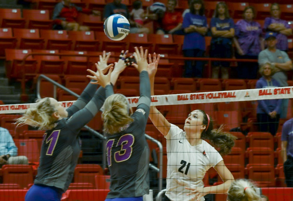 Recap of Ball State Woman's Volleyball team vs University of Northern Iowa