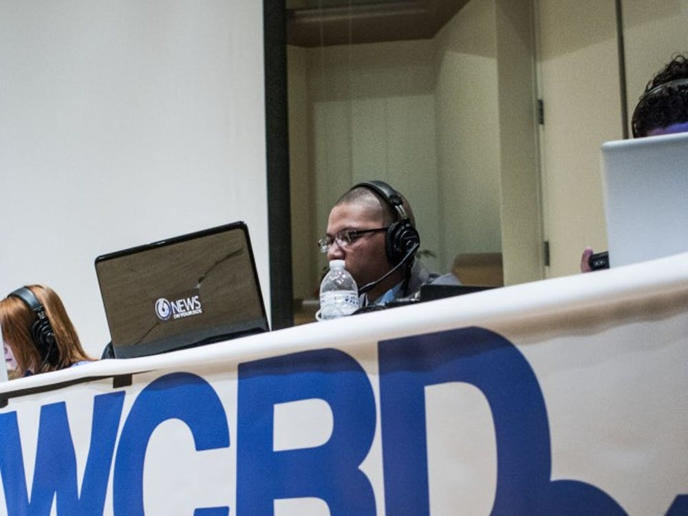 WCRD runs live coverage during one of the final Student Government Association debates Feb. 19 in Pruis Hall. WCRD celebrated its 25th anniversary this week. DN FILE PHOTO JONATHAN MIKSANEK