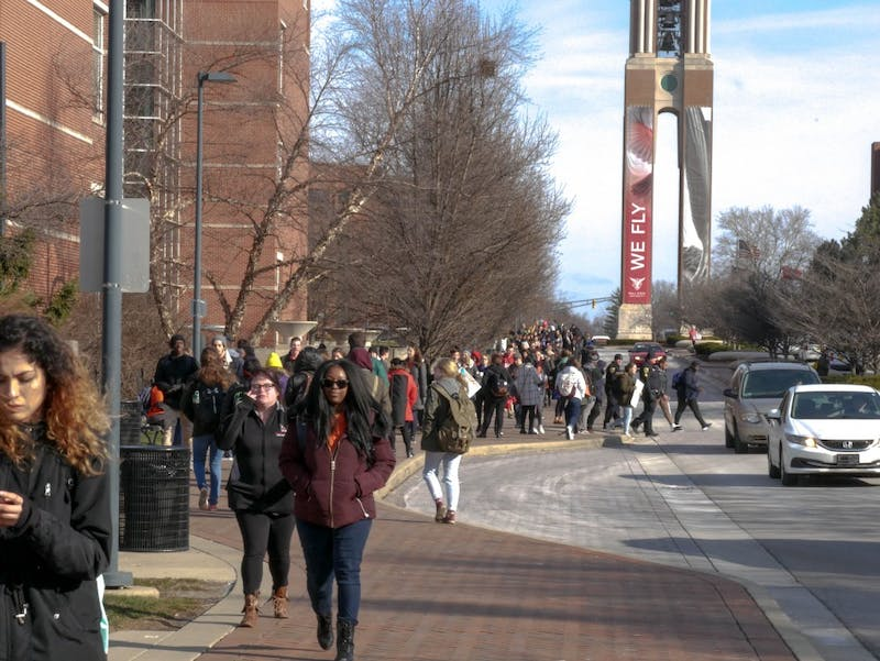 Photos from the Ball State Walkout to end gun violence
