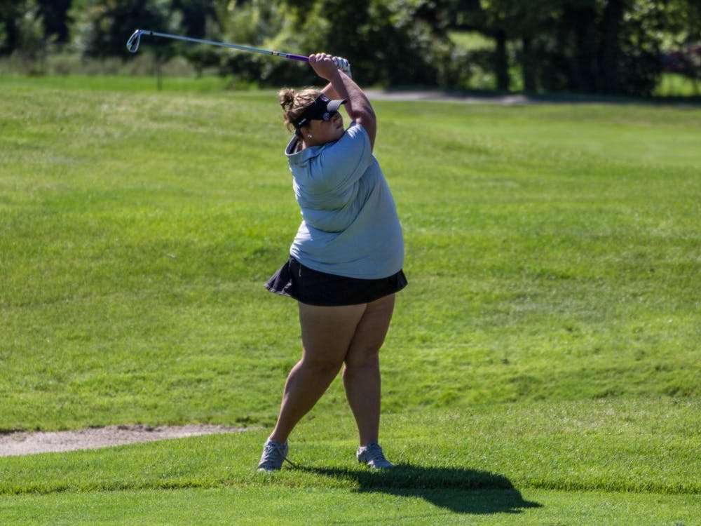 Morgan Nadaline finished as the second Ball State player on the leaderboard and tied for 16th place on the opening day of the Cardinal Classic at the Player's Club on Sept. 19, 2016. Grace Ramey, DN File
