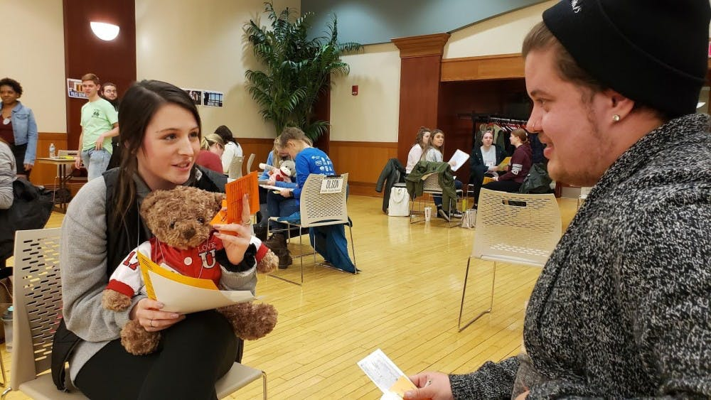 <p>Ball State Students participate in the Poverty Simulator Wednesday, Feb. 13 in the L.A. Pittenger Student Center. Students were organized in families, with babies being represented by teddy bears that the Realville residents had to care for. <strong>John Lynch, DN</strong></p>