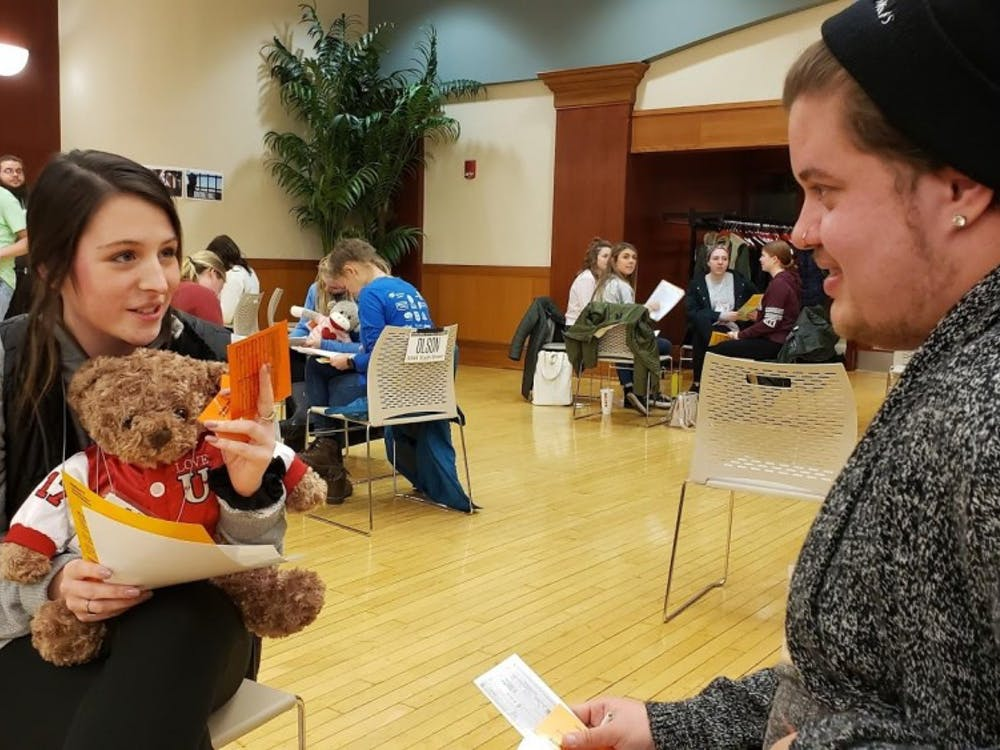 Ball State Students participate in the Poverty Simulator Wednesday, Feb. 13 in the L.A. Pittenger Student Center. Students were organized in families, with babies being represented by teddy bears that the Realville residents had to care for. John Lynch, DN