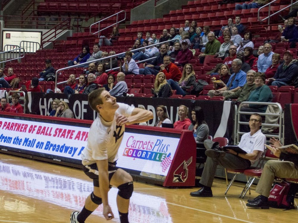The Ball State men's volleyball teamtook on theNo.2Lewis on Feb. 12 at Worthen Arena. The Cardinalsfell to Lewis 3-0.