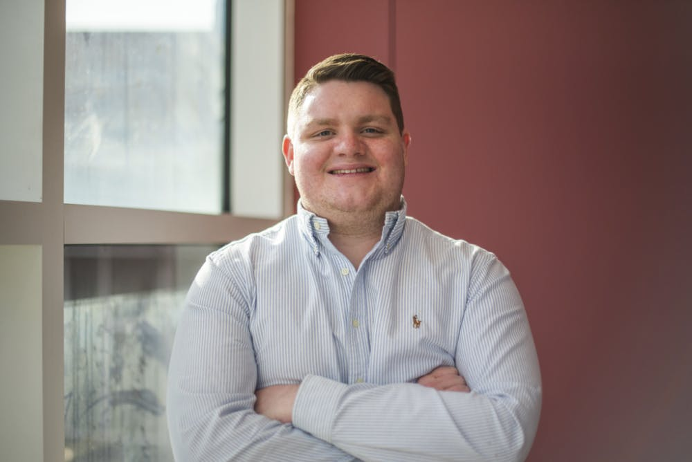 Matt Dowell, senior professional selling major, poses for a photo at McKinley Avenue Agency. Dowell, who will be a sales director at McKinley Avenue for the 2019-20 academic year, started a summer sales internship with Dell Technologies May 21, 2019. Betsy Meyer, Photo Provided