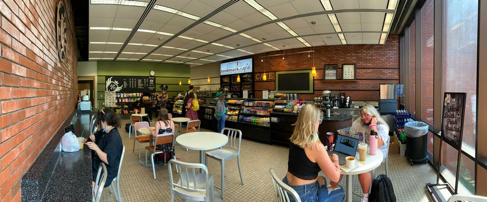 <p>Bookmark Cafe invites students with scents of fresh coffee and baked goods, Aug. 24, 2021, in Bracken Library. <strong>Rylan Capper, DN </strong></p>