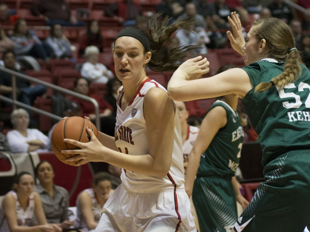 The Ball State women's basketball faced Eastern Michigan at home on Feb. 25 at Worthen Arena. Ball State lost 56-41.
