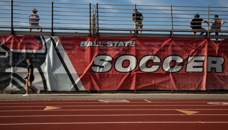 Fans walk around and talk during half time at the Woman's Soccer game, Thursday, Aug. 28, 2019 at Briner Sports Complex.  Ball State Woman's soccer team defeated Illinois State University 1-0. Rebecca Slezak, DN
