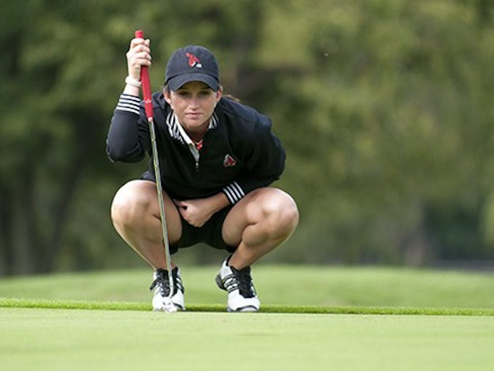 Then junior Autumn Duke plays in the 2011 Cardinal Classic on Sept. 17, 2011. Duke was awarded the Kim Moore Spirit Award for the 2012-13 season for her commitment to the team after the death of her father Larry last September. DN FILE PHOTO BOBBY ELLIS