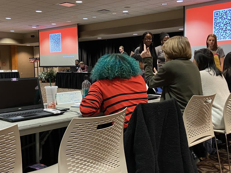 The Student Government Association's Diversity and Multicultural Committee discusses the student forum scheduled for Jan. 29, 2020, regarding the Jan. 21 classroom incident at Ball State. Jordyn Blythe, the committee's chair is the moderator for the forum. Grace McCormick, DN