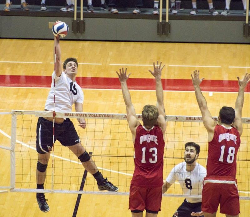 Ball State men's volleyball wins 3-1 on Senior Night