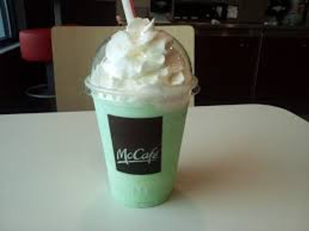 Introduced in 1970, the McDonalds Shamrock Shake has been the St. Patricks Day staple in stores across the nation. Wikimedia Commons, Photo Courtesy