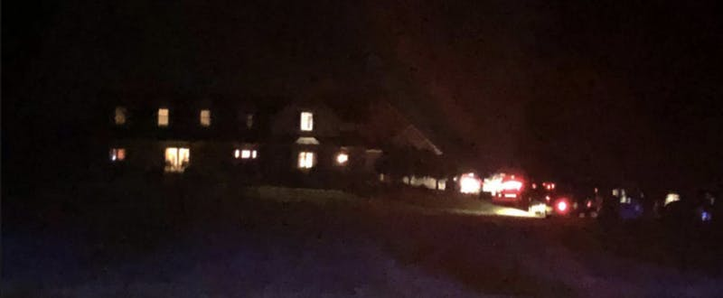 Pictured is the home where a shooting occurred around 9:30 p.m. Monday after a man held his family against their will for several hours.