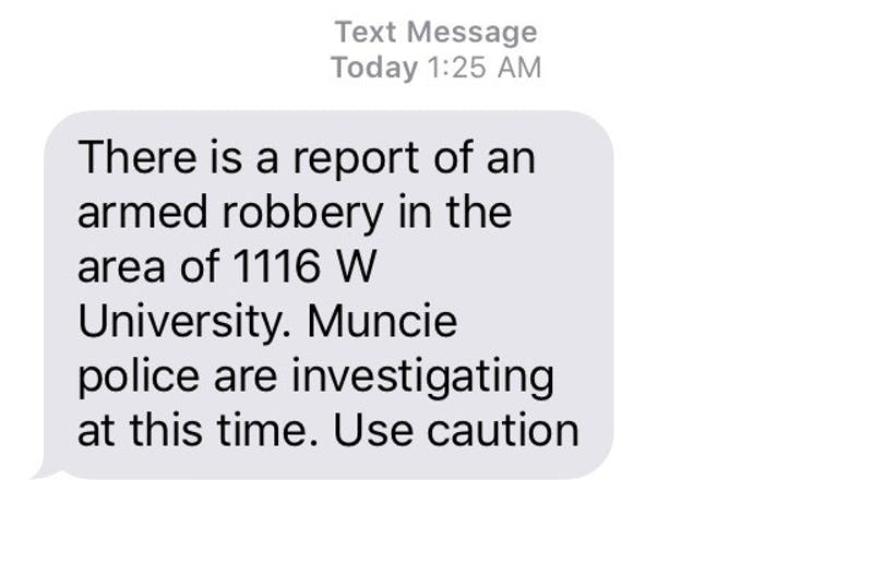 Armed robbery reported near campus