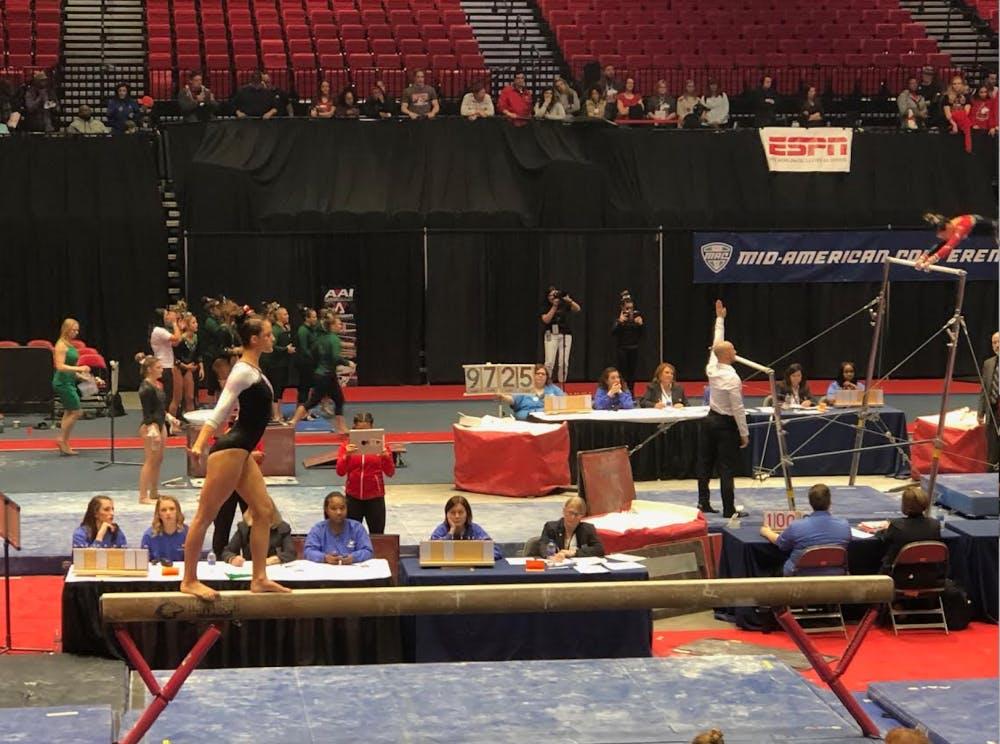 Ball State Gymnastics finishes last at MAC Championship