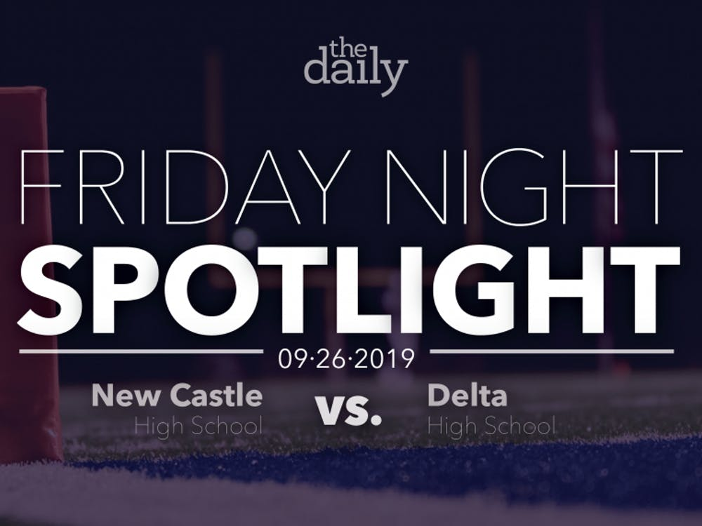 Delta defeated New Castle Friday, Sept. 27, 2019, by a score of 42-0. The Eagles scored six touchdowns as their passing game led the offense. Emily Wright, DN Graphic