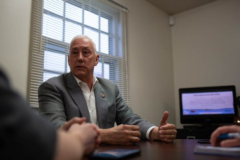 Representative Greg Pence speaks in his office in Muncie April 25, 2019. Pence serves on the House Transportation & Infrastructure Committee and the House Committee on Foreign Affairs in the 116th Congress, according to his website. Scott Fleener, DN