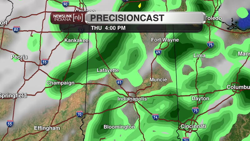 Warm temperatures will give way to an increased chance of rain