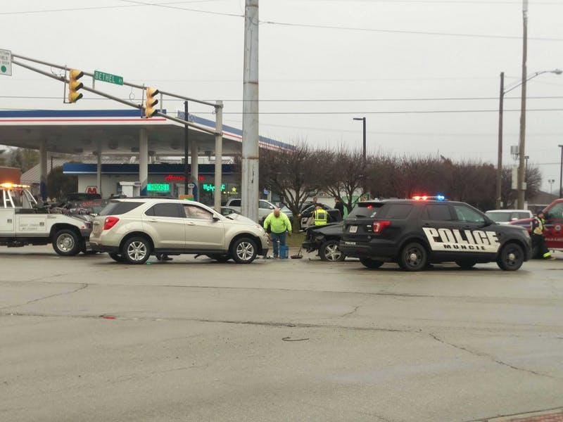 Officers from Muncie Police Department and Ball State University Police responded to a car accident that occurred around 2:50 p.m. Monday at the intersection of Bethel Avenue and Tillotson Avenue. Rohith Rao, DN