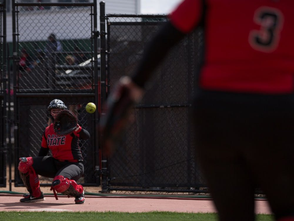 Ball State lost 1-4 in its third game against Kent State on April 7 at Softball Field at First Merchants Ballpark Complex.