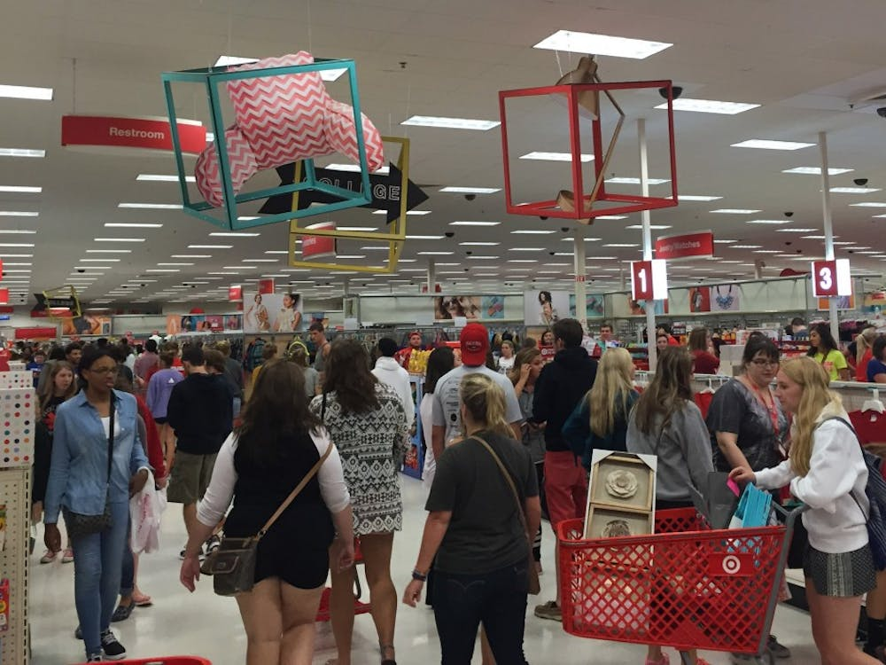 Students look around Target on Aug. 20as they gather any dorm supplies or items they may need or want for the school year. The university bussed students to Target to shop. DN PHOTO CASEY SMITH