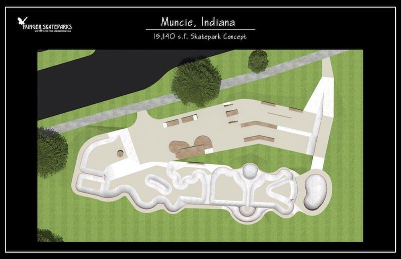 Muncie skatepark project focusing on more funds, new design