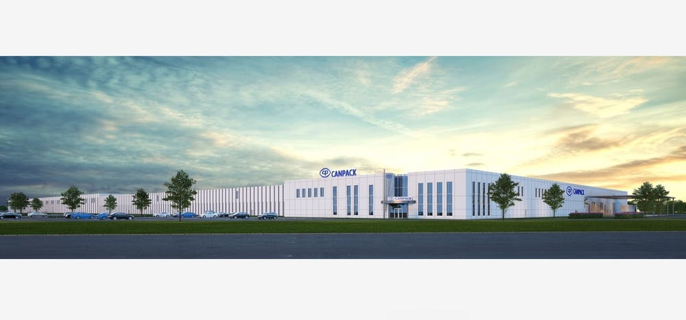 <p>CANPACK offers a rendering of what its new, state-of-the-art Muncie factory will look like by 2023. CANPACK was founded in 1992 in Kraków, Poland, and now has a presence in multiple continents around the world. <strong>CANPACK, Photo Provided</strong></p><p></p>