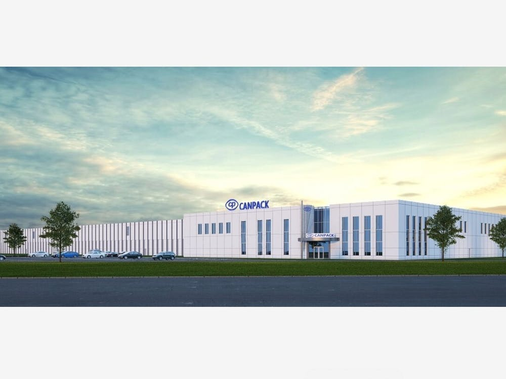 CANPACK offers a rendering of what its new, state-of-the-art Muncie factory will look like by 2023. CANPACK was founded in 1992 in Kraków, Poland, and now has a presence in multiple continents around the world. CANPACK, Photo Provided