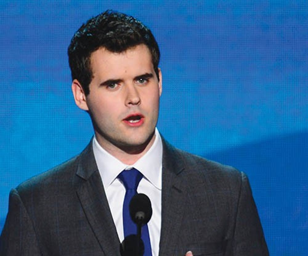 Zach Wahls speaks on the issue of gay marriage at the 2012 Democratic National Convention in Times Warner Cable Arena Thursday, September 6, 2012 in Charlotte, North Carolina. MCT PHOTO