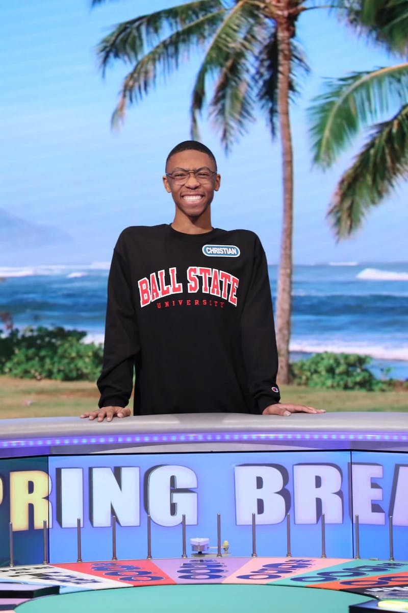 "Freshman Christian Dixie became the first Ball State student to play on ""Wheel of Fortune's"" ""College Week"" on Feb. 6. His episode will air March 17. Sony Pictures, Photo Provided"