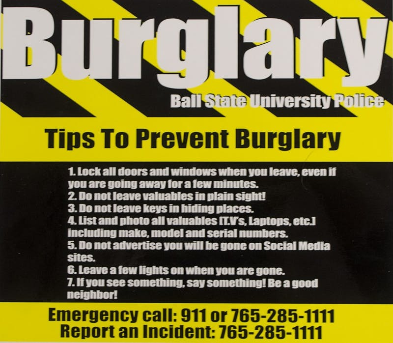 Students living around campus this summer might want to take some precautions before they go on summer vacation, internships or back home to prevent burglaries. BREANNA DAUGHERTY // DN FILE