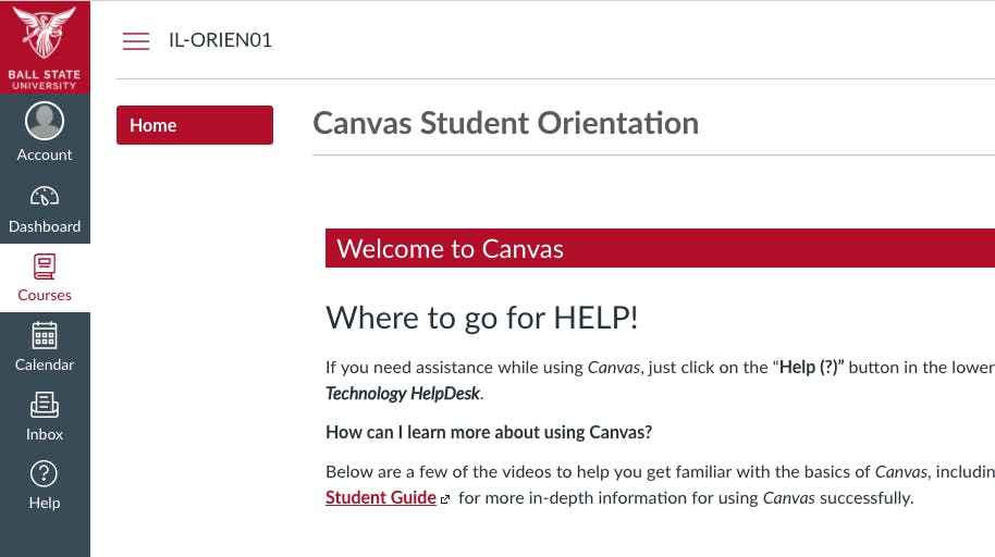 The university will fully switch from Blackboard to Canvas by May 2019. Faculty will be able to choose which learning management system to use in the fall 2018 and spring 2019 semesters. Screen Grab, Ball State University website