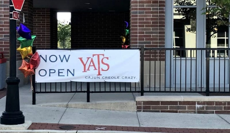 Yats, a restaurant providing spicy cajun cuisine, opened in The Village last week right across the street from Insomnia Cookies.