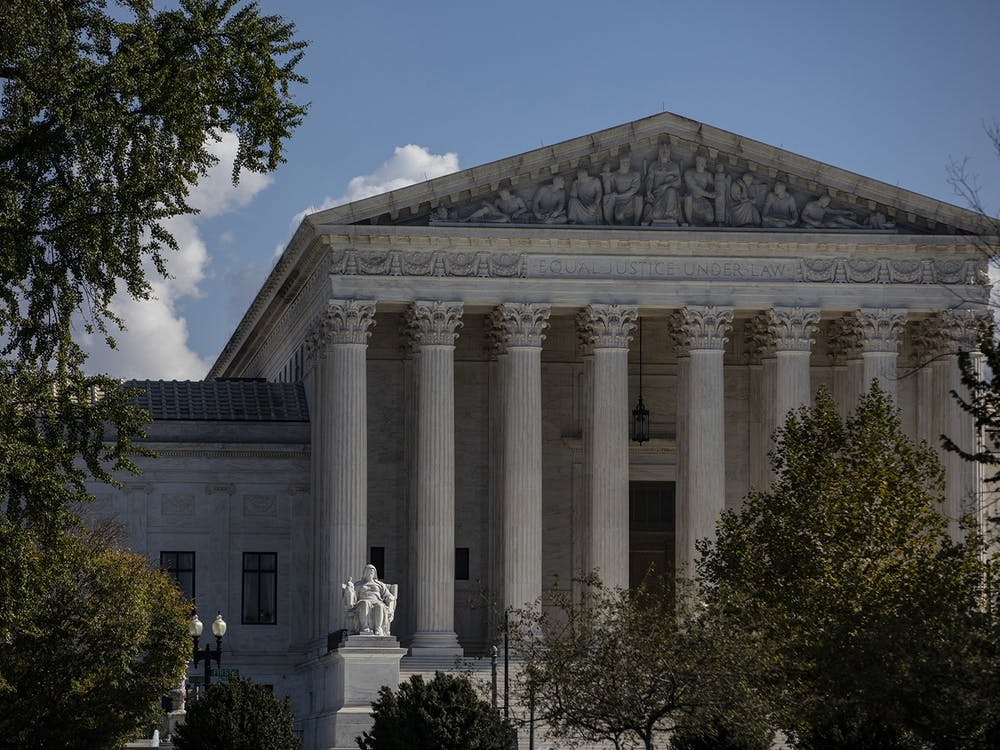 The U.S. Supreme Court on Oct. 22, 2020, in Washington, D.C. (Samuel Corum/Getty Images/TNS)
