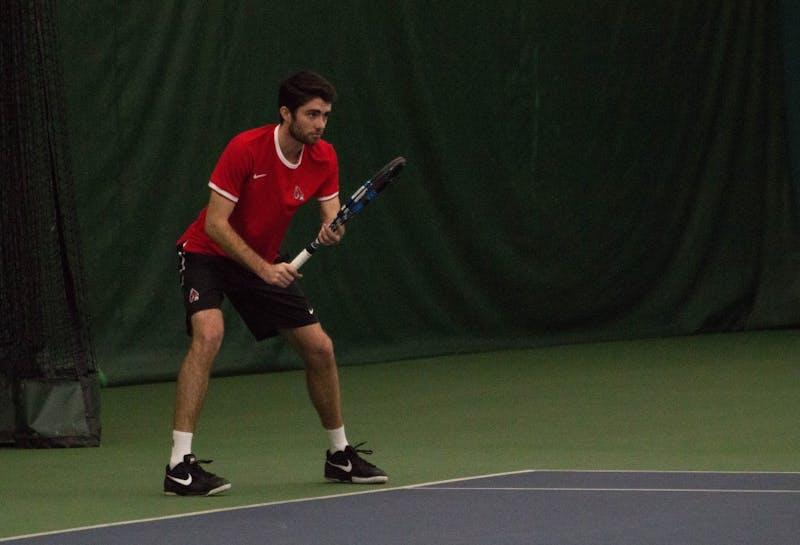 Men's tennis heads to Western Michigan for MAC tournament