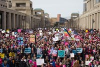 Around 4,500 to 5,000 people gathered outside the Indiana Statehouse on Jan. 21, 2017 for the Indianapolis Women's March, according to Indiana State Police. The Women's March on Jan. 19, 2019, will be the third consecutive year the march has happened in Indianapolis. Grace Ramey, DN