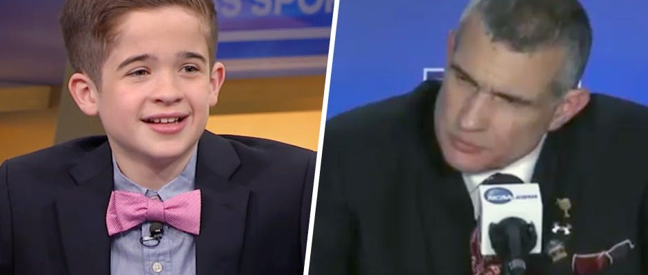 SI Kids reporter has the best question at NCAA post-game presser.