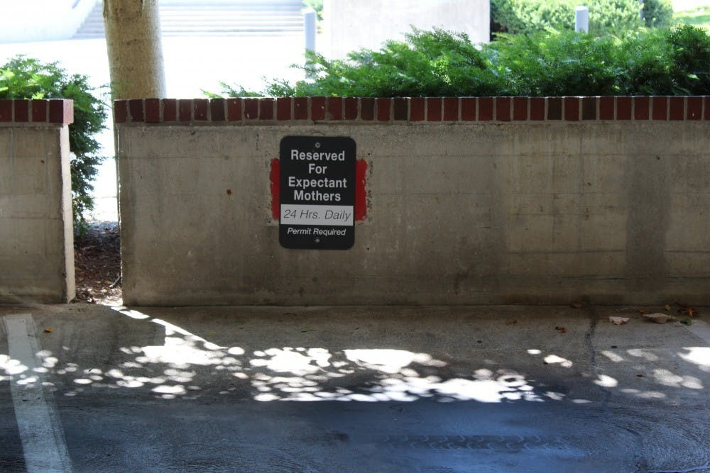 <p>Ball State is now offering a special parking pass that allows expectant mothers to park at six designated spots throughout campus. This is one of the few accomplishments made by the Student Government Association the past five years.<strong> Brooke Kemp, DN</strong>&nbsp;</p>