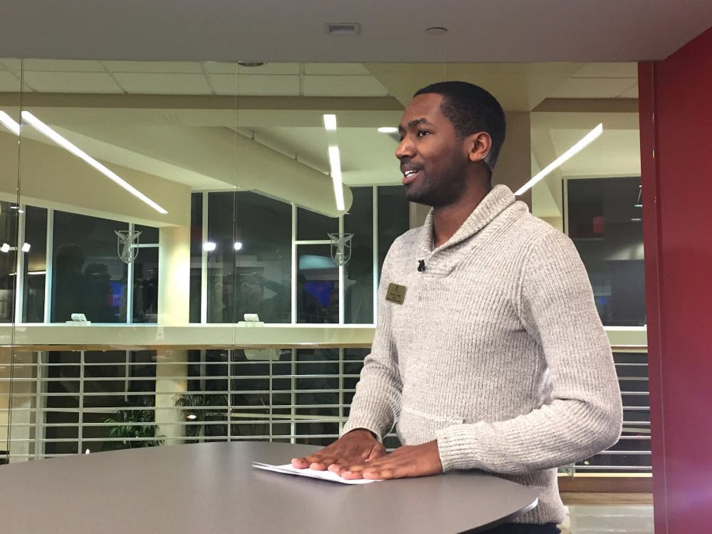 SGA President James Wells issued a statement about a senate  amendment Jan. 25 in the Unified Media Lab. Wells said he believes the amendment is aimed at him. Casey Smith // DN
