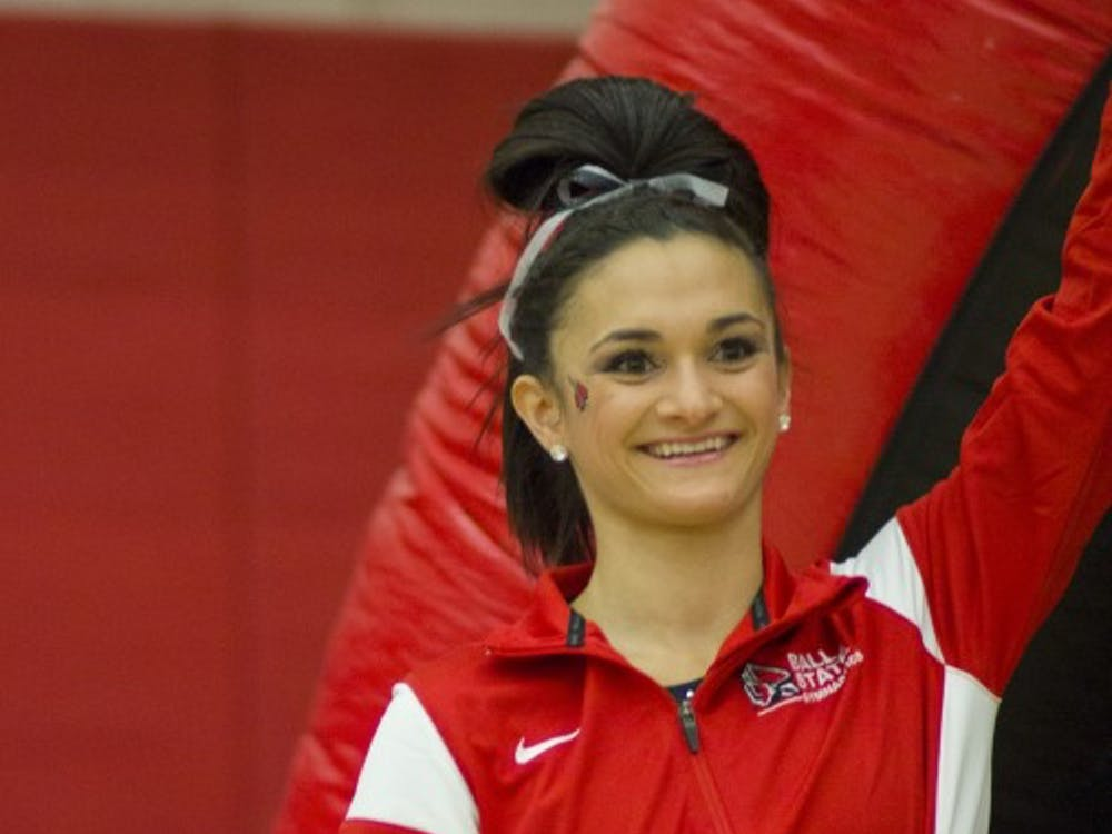 The Ball State gymnastics team faced Northern Illinois in the final home match of the season on Feb. 27 at Irving Gymnasium. Ball State won 194.2-193.25.