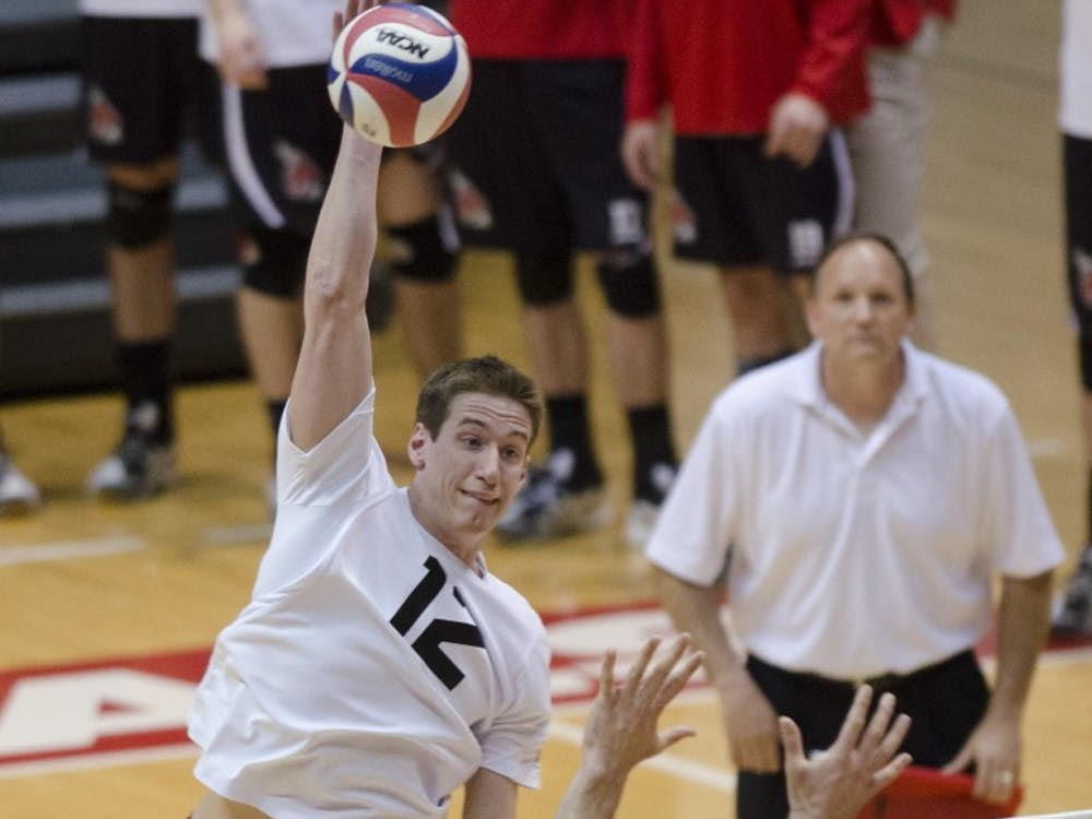 The Ball State men's volleyball took on Ohio State March 23 at Worthen Arena. Ball State won 3-1.