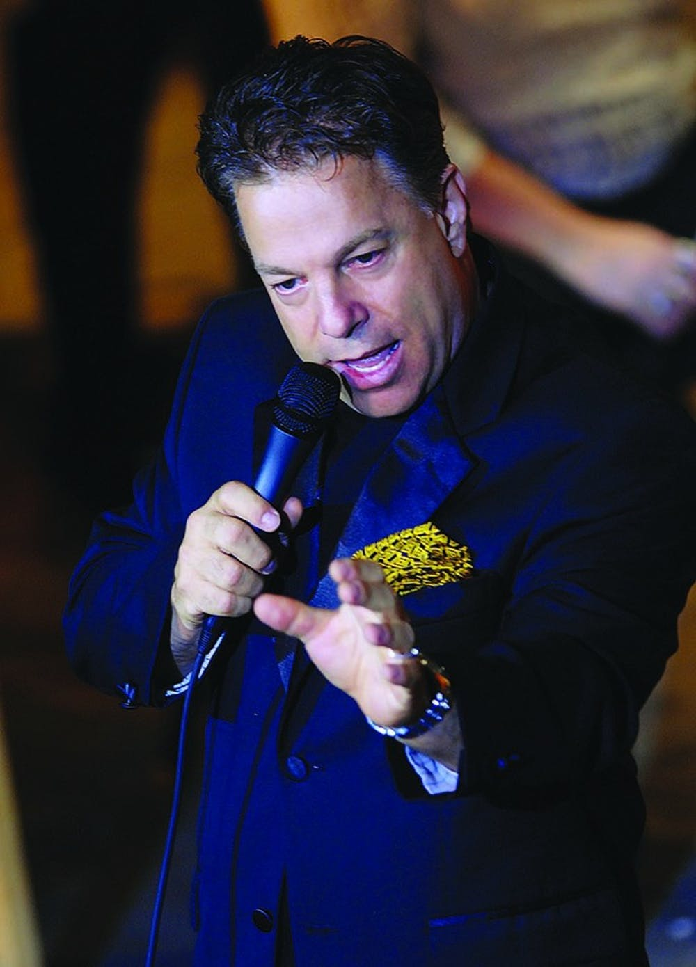 """Steve Lippia sings during a concert. Lippia will be performing tonight in Sursa hall for the """"Art of Jazz Series: A Las Vegas Show Tribute to Frank Sinatra"""". PHOTO PROVIDED BY"""