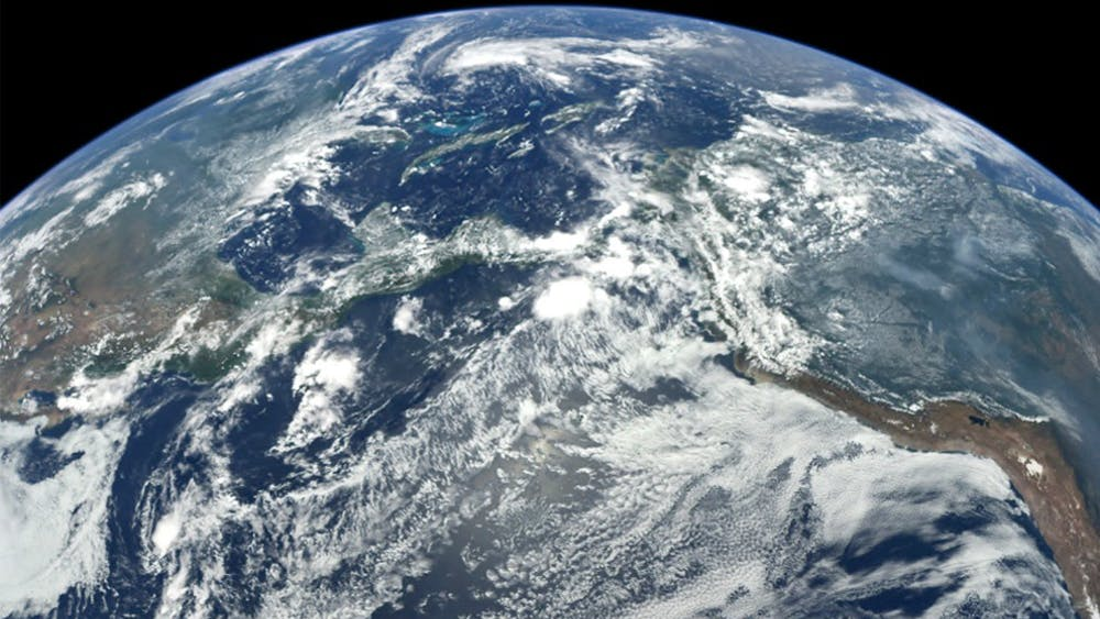 This image of Earth was captured by the MESSENGER spacecraft during a flyby of our home planet on Aug. 2, 2005. The global warming trend is proceeding at a rate that is unprecedented over decades to millennia. NASA, Photo Courtesy