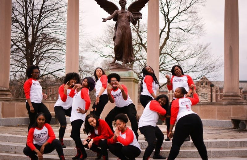 RedPrint Step Team poses together for a group photo Nov. 19, 2018. The group held its first showcase this year, with hopes for another in the spring. Legend Edwards, Photo provided.