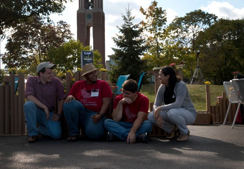 College of Architecture and Planning students organized and created six installations around campus on Sept. 15 to bring awareness to multiple social issues.