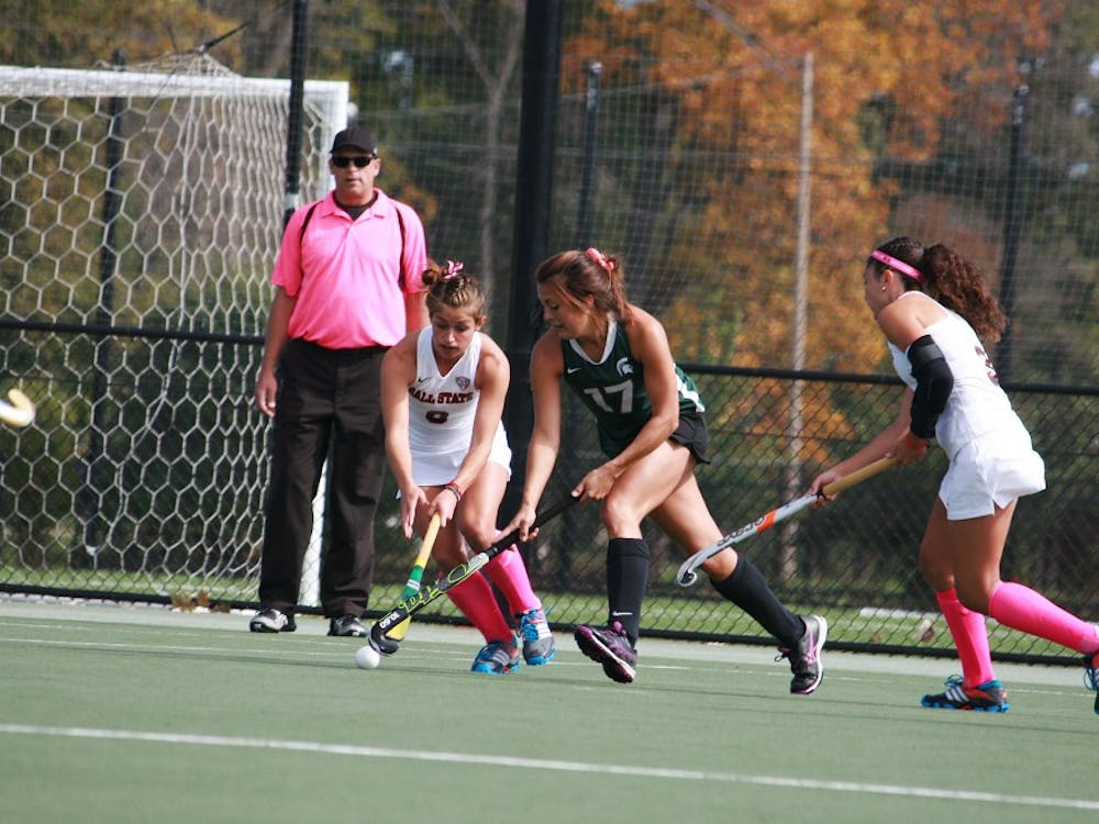 The Ball State field hockey team took on Michigan State on Oct. 12 at the Briner Sports Complex. Ball State won 2-1.