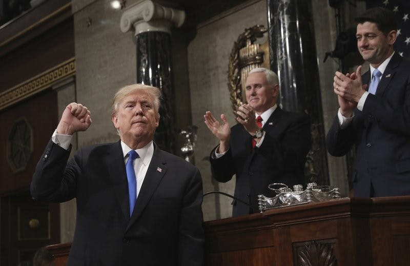 Trump calls for optimism in spite of warnings of danger