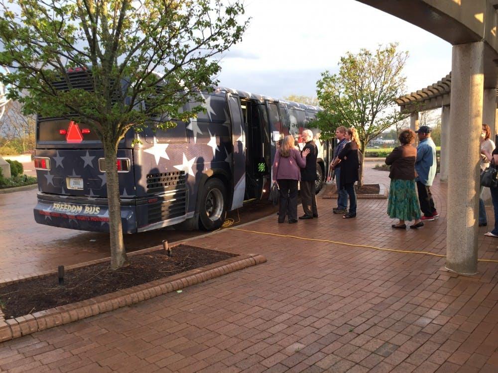 The Freedom Bus debuted on April 20 at Minnetrista. DN PHOTO RACHEL PODNAR