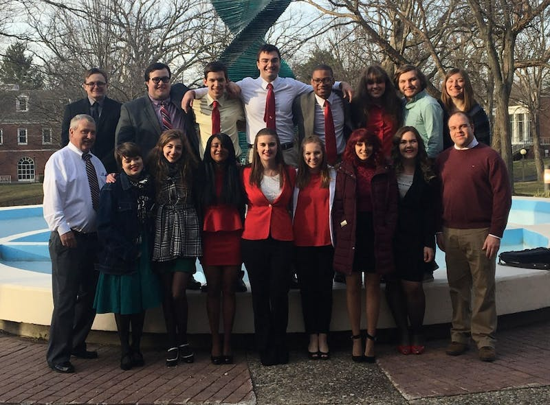 Ball State's Debate Team won 17 awards, including first place, at the 2017 National Educational Debate Association National Championship this weekend at Anderson University. The team has won nine of the last 10 national championships. Abigail Gibbs // Photo Provided