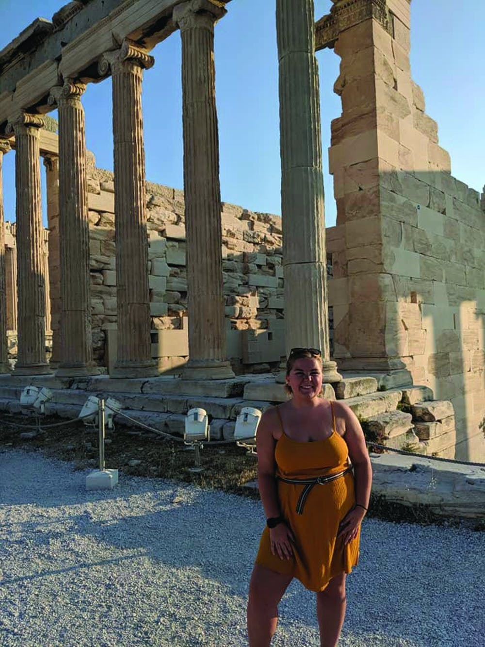 <p>Haley Elgin, junior marketing major, climbed nearly 500 feet to reach the top of the Acropolis of Athens during her study abroad trip throughout Greece. The Acropolis of Athens is an ancient citadel where several ancient monuments, such as the Parthenon, are located. <strong>Haley Elgin, Photo Provided&nbsp;</strong></p>